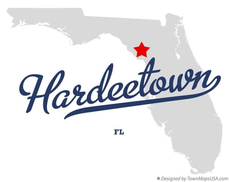 Map of Hardeetown Florida FL