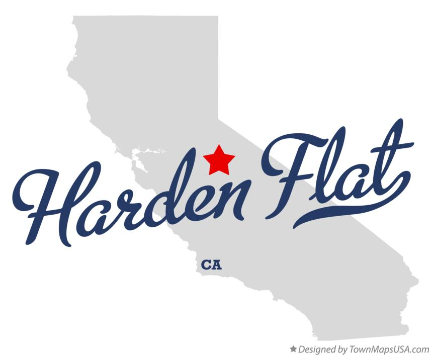 Map of Harden Flat California CA