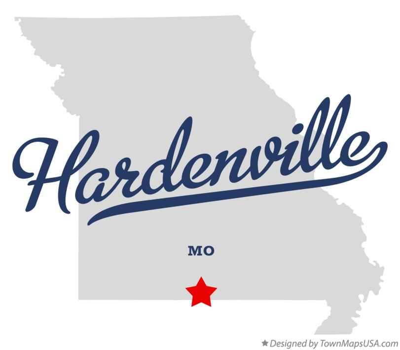 Map of Hardenville Missouri MO