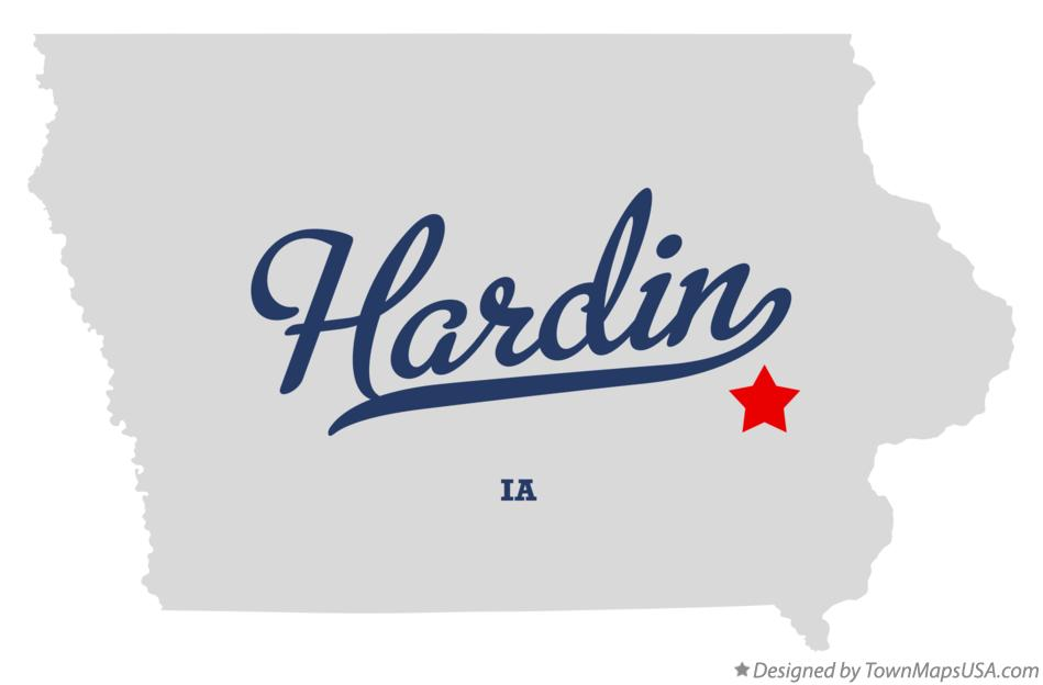 Map of Hardin Iowa IA