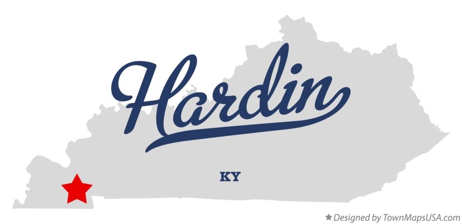 Map of Hardin Kentucky KY