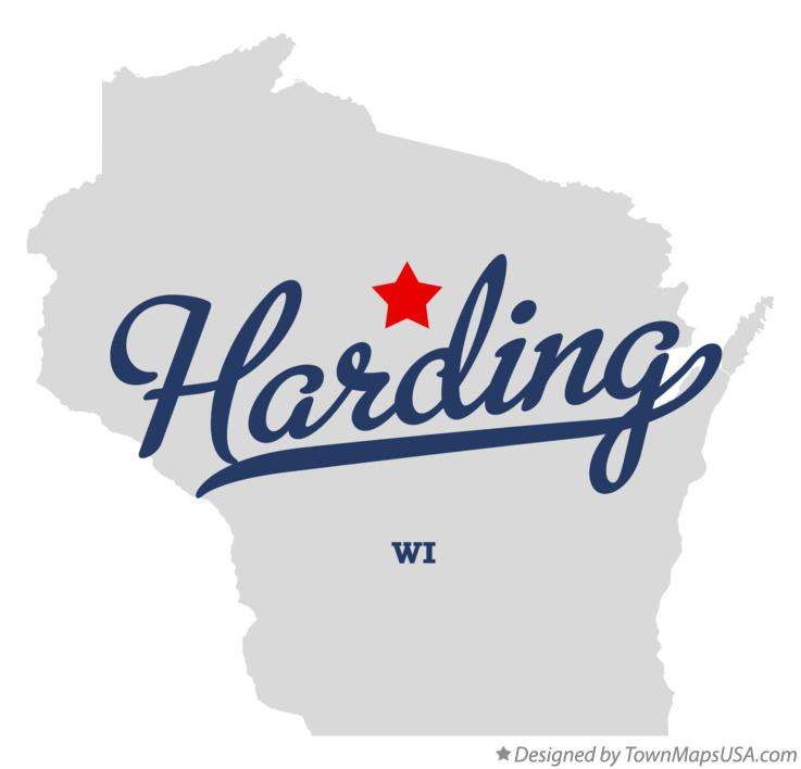 Map of Harding Wisconsin WI