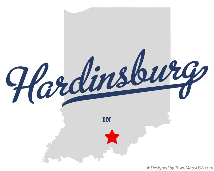 Map of Hardinsburg Indiana IN