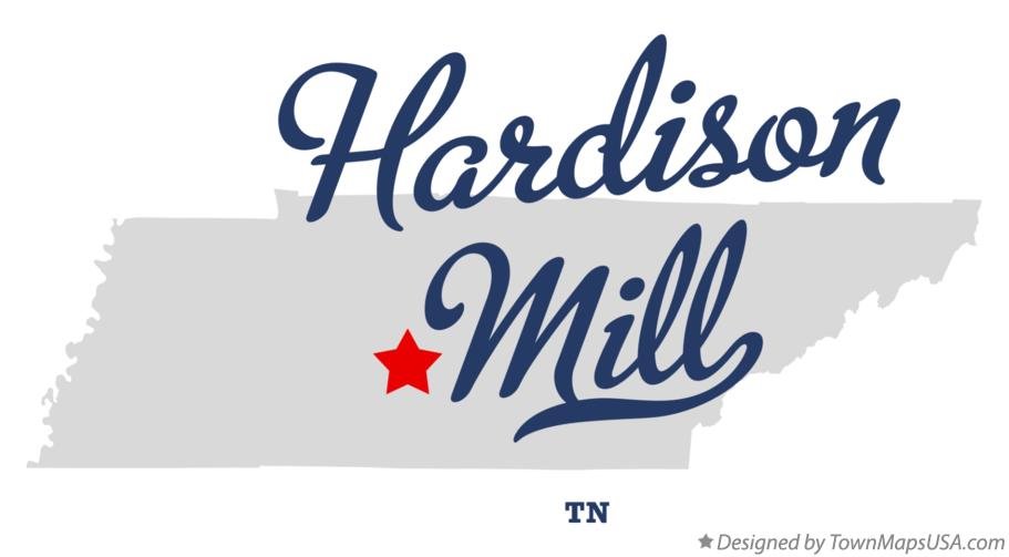 Map of Hardison Mill Tennessee TN