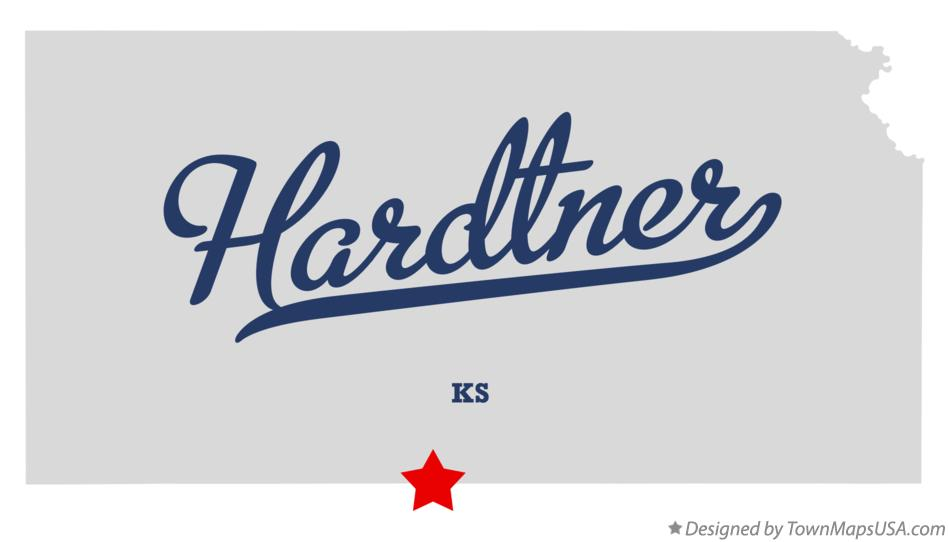 Map of Hardtner Kansas KS