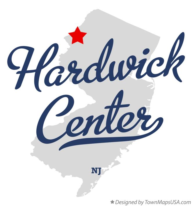 Map of Hardwick Center New Jersey NJ