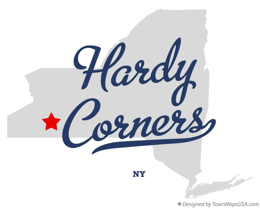 Map of Hardy Corners New York NY
