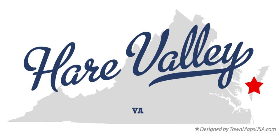 Map of Hare Valley Virginia VA