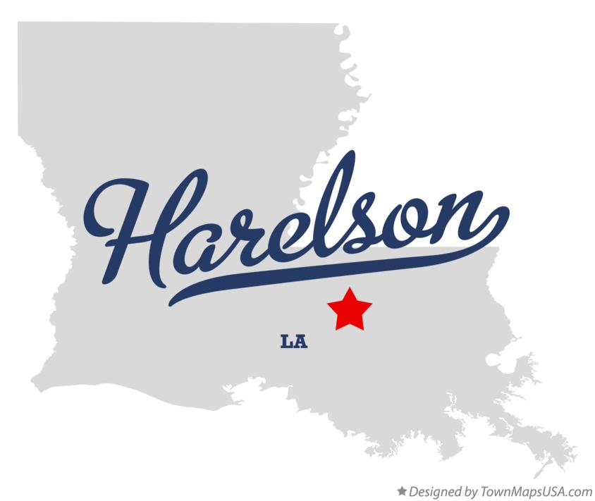 Map of Harelson Louisiana LA