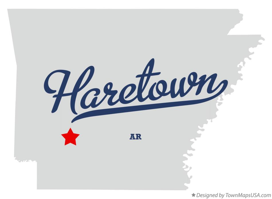 Map of Haretown Arkansas AR