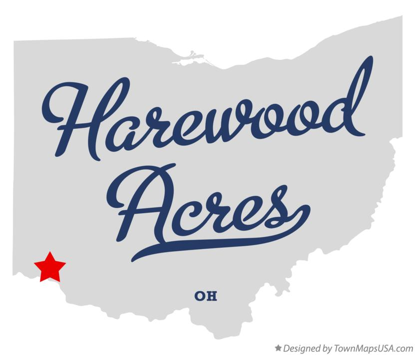 Map of Harewood Acres Ohio OH