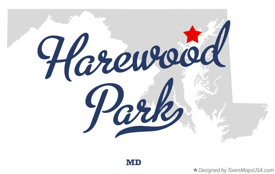Map of Harewood Park Maryland MD