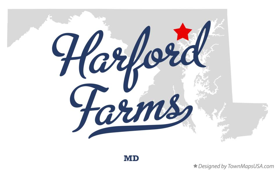 Map of Harford Farms Maryland MD
