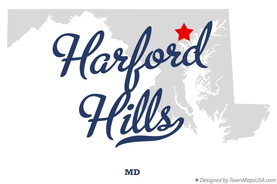 Map of Harford Hills Maryland MD