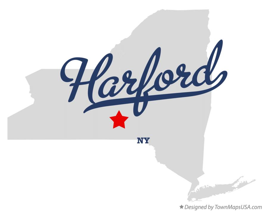 Map of Harford New York NY