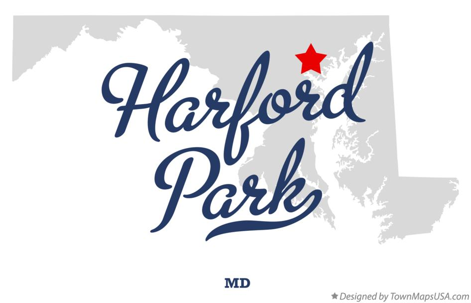 Map of Harford Park Maryland MD