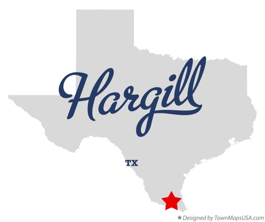 Map of Hargill Texas TX