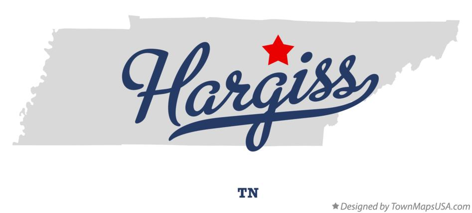 Map of Hargiss Tennessee TN