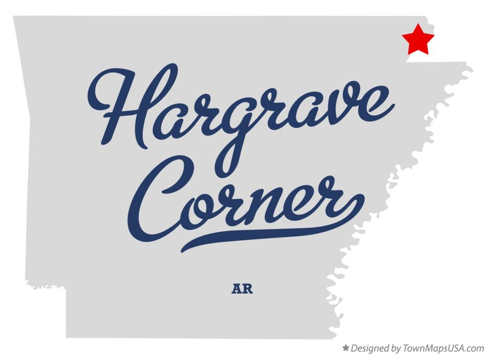 Map of Hargrave Corner Arkansas AR