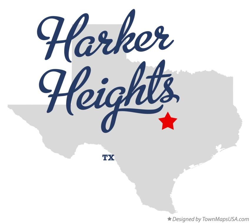 Map of Harker Heights Texas TX