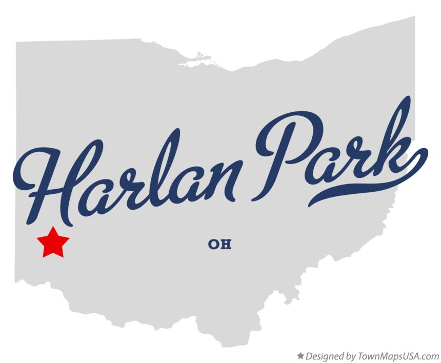 Map of Harlan Park Ohio OH