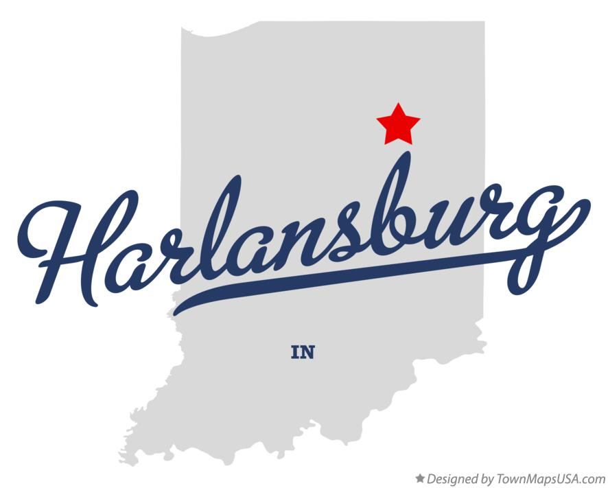 Map of Harlansburg Indiana IN