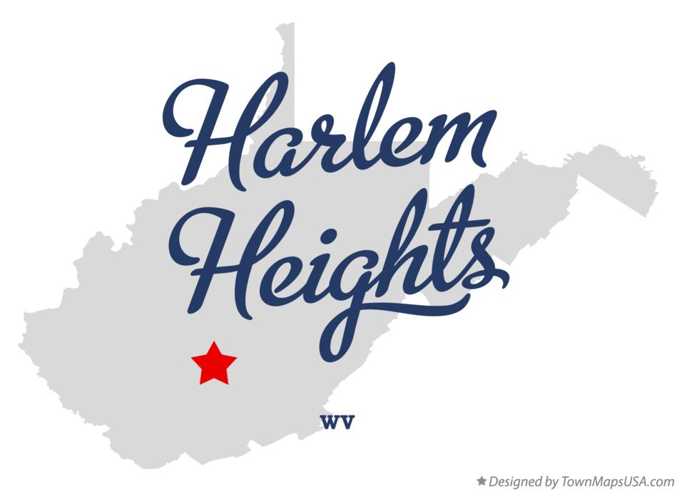 Map of Harlem Heights West Virginia WV