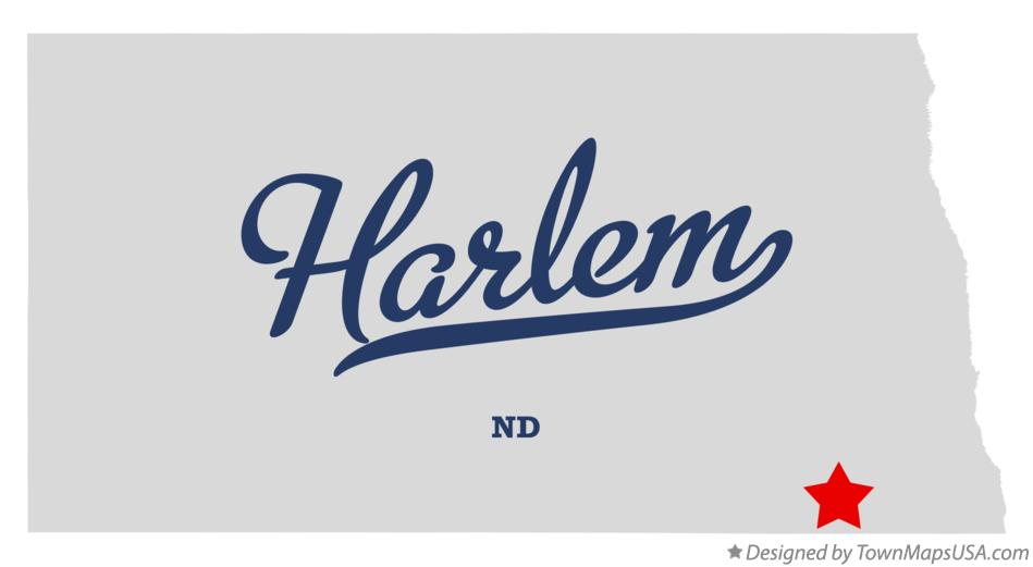 Map of Harlem North Dakota ND