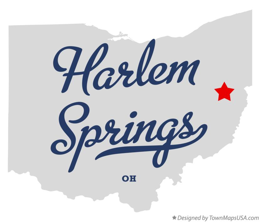 Map of Harlem Springs Ohio OH