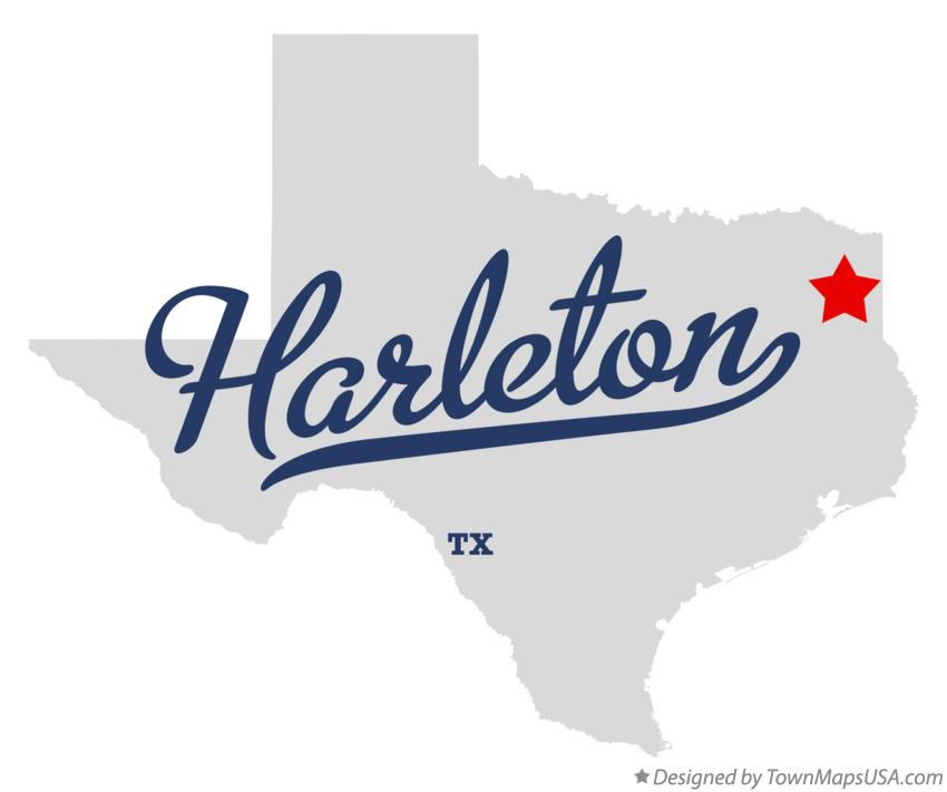 Map of Harleton Texas TX