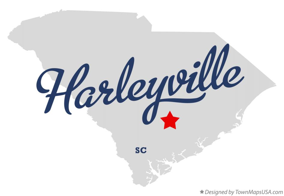 Map of Harleyville South Carolina SC