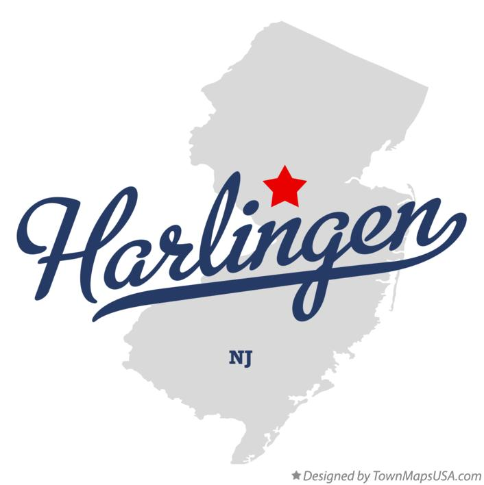 Map of Harlingen New Jersey NJ