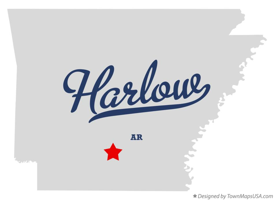 Map of Harlow Arkansas AR