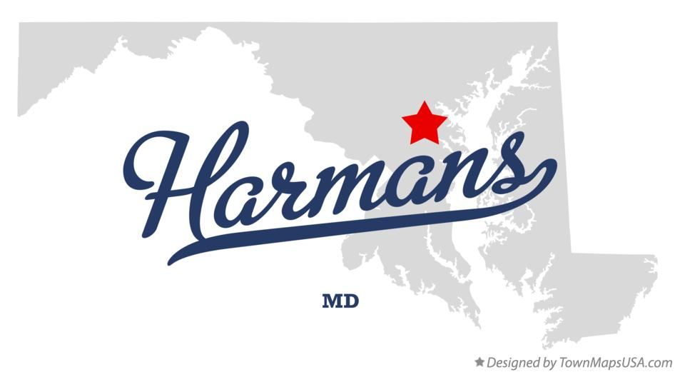 Map of Harmans Maryland MD