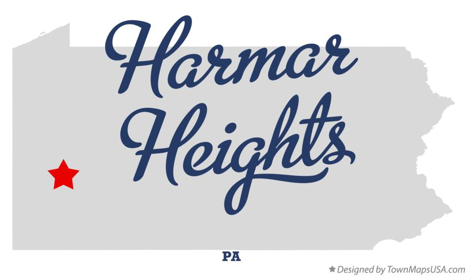Map of Harmar Heights Pennsylvania PA