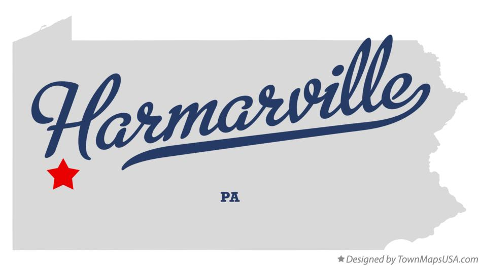 Map of Harmarville Pennsylvania PA