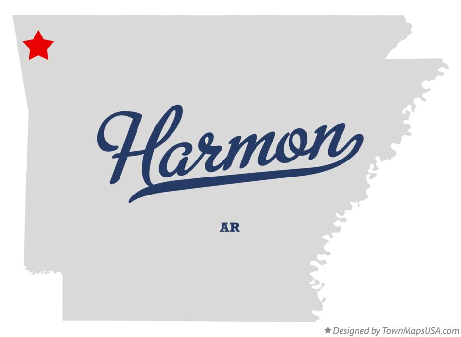Map of Harmon Arkansas AR