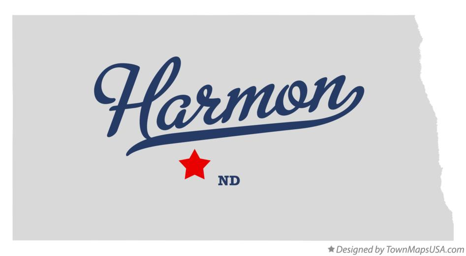 Map of Harmon North Dakota ND