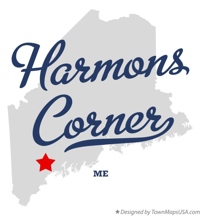 Map of Harmons Corner Maine ME