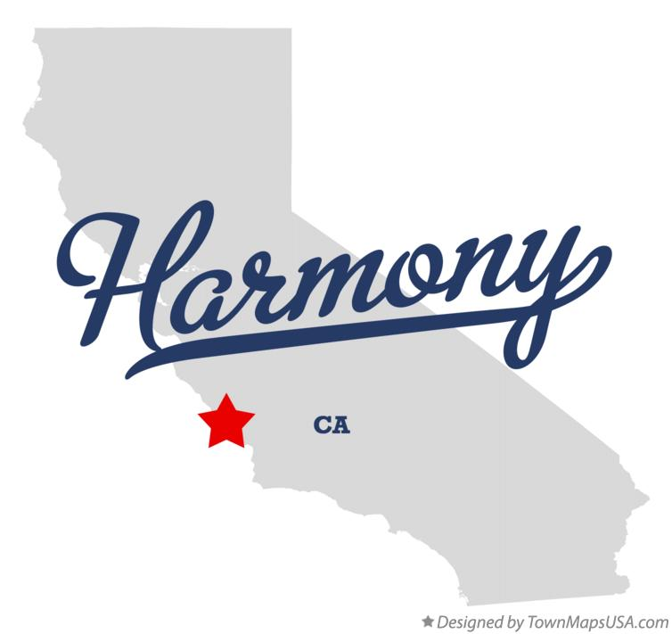 Map of Harmony California CA