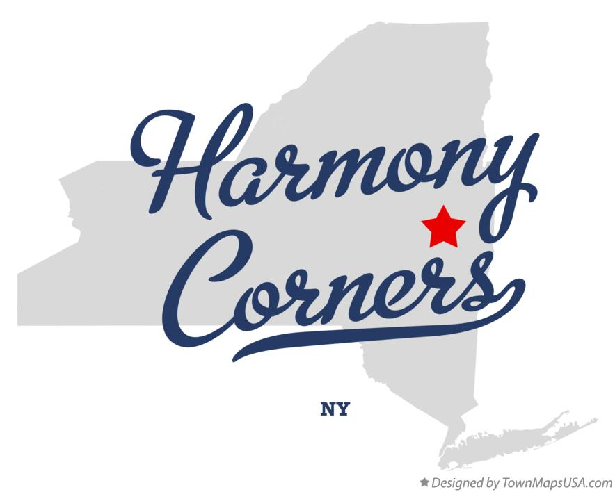 Map of Harmony Corners New York NY