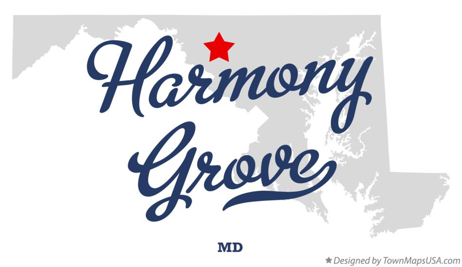 Map of Harmony Grove Maryland MD
