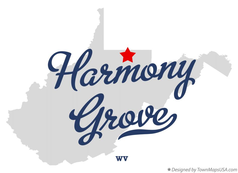 Map of Harmony Grove West Virginia WV