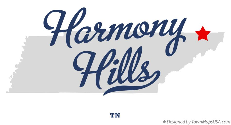 Map of Harmony Hills Tennessee TN