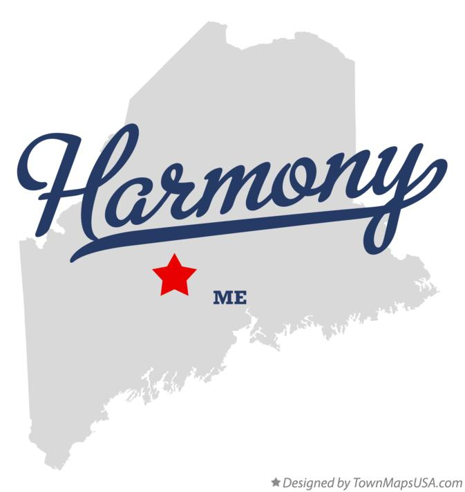 Map of Harmony Maine ME