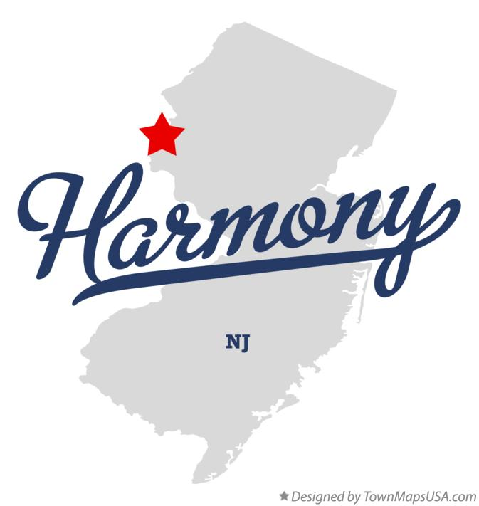 Map of Harmony New Jersey NJ