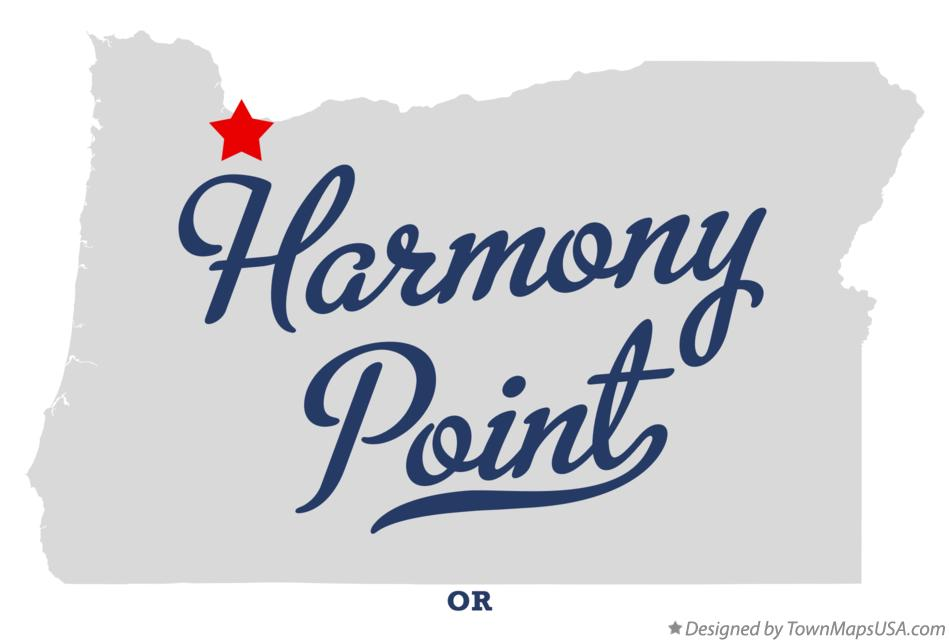 Map of Harmony Point Oregon OR