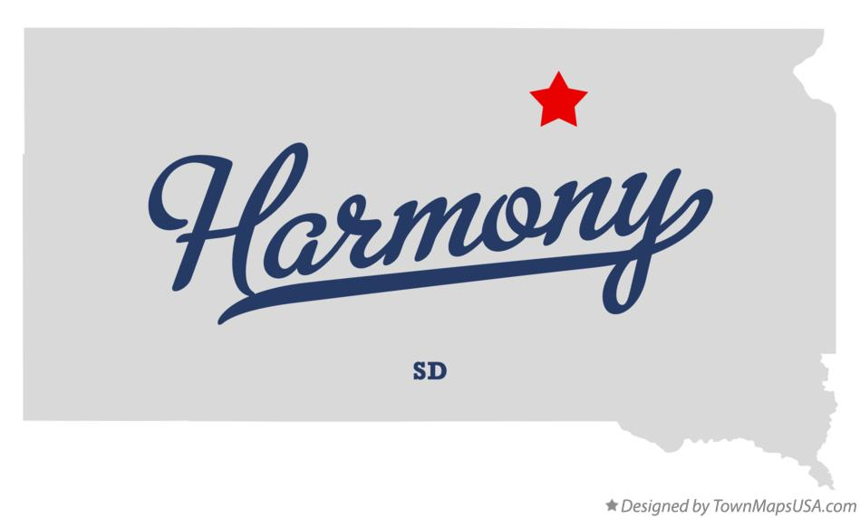 Map of Harmony South Dakota SD