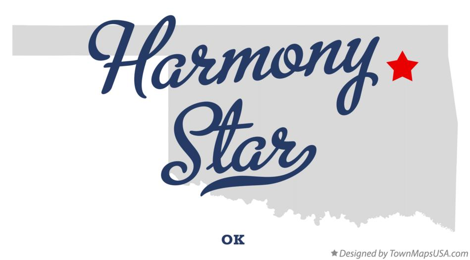 Map of Harmony Star Oklahoma OK