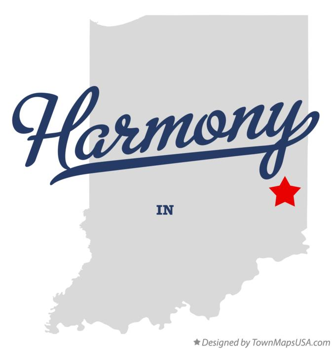 Map of Harmony Indiana IN